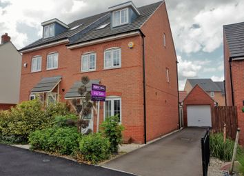 Thumbnail 4 bed semi-detached house for sale in Birch Lane, Glenfield, Leicester