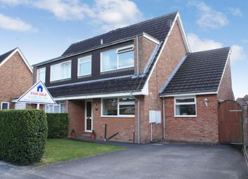 Thumbnail 3 bed semi-detached house for sale in Foxmoor Close, Oakley, Hampshire