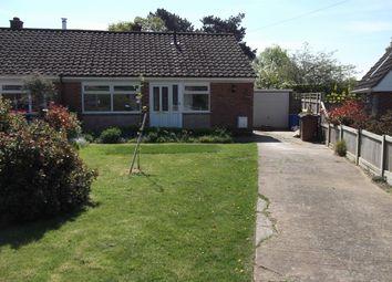 Thumbnail 2 bedroom semi-detached bungalow to rent in Hubbard Close, Wymondham