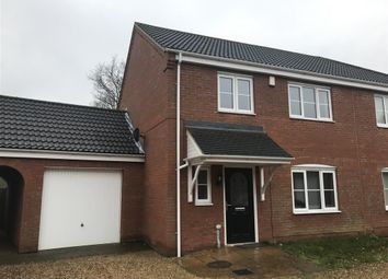 Thumbnail 3 bed property to rent in Granary Close, Hockering, Dereham