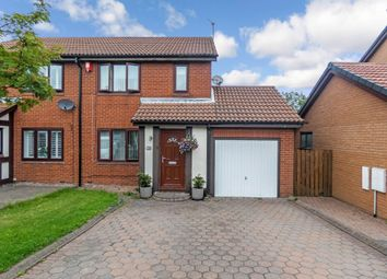 Thumbnail 3 bed semi-detached house for sale in Mitchell Drive, Ashington