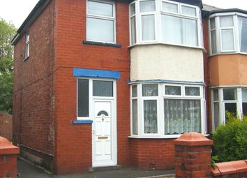 Thumbnail 3 bedroom semi-detached house to rent in Lulworth Avenue, Blackpool