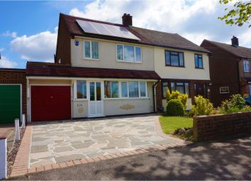 Thumbnail 3 bed semi-detached house for sale in Clavering Gardens, Brentwood