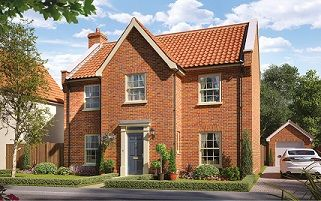 Thumbnail 4 bedroom detached house for sale in Butterfield Meadow, Hunstanston, Norfolk