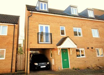 Thumbnail 4 bedroom town house for sale in Camelia Close, Hethersett, Norwich