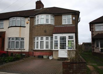 Thumbnail 3 bed end terrace house to rent in Sarsfield Road, Perivale