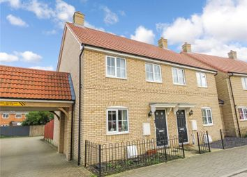 Thumbnail 3 bed semi-detached house for sale in Rowell Way, Sawtry, Huntingdon, Cambridgeshire