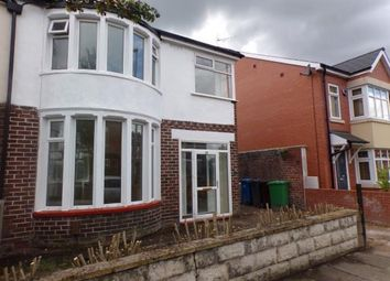 Thumbnail 3 bedroom semi-detached house for sale in Longford Road, Chorlton, Manchester