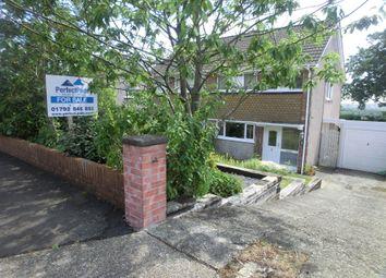 Thumbnail 4 bed semi-detached house for sale in Gwysfa Road, Ynystawe, Swansea.