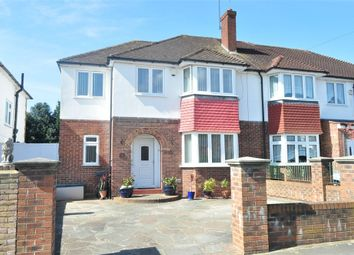 Thumbnail 4 bed semi-detached house for sale in Benedict Drive, Bedfont, Middlesex