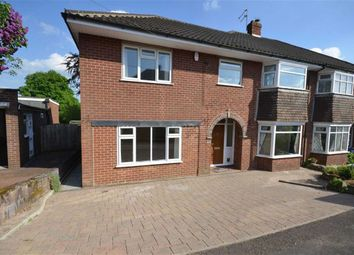 Thumbnail 4 bed semi-detached house for sale in Rock Crescent, Oulton, Stone