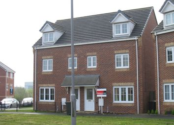Thumbnail 4 bed town house to rent in Wisteria Way, Nuneaton