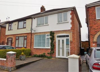 Thumbnail 3 bed semi-detached house for sale in Burnham Drive, Stadium Estate, Leicester