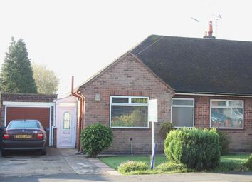 Thumbnail 2 bed semi-detached bungalow for sale in Stoneycroft Road, Earl Shilton., Leicester