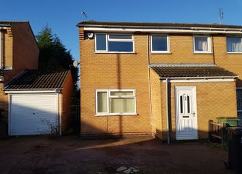 Thumbnail 3 bed semi-detached house for sale in Carbery Close, Oadby, Leicester