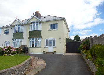 Thumbnail 3 bed semi-detached house for sale in Quinta Road, Torquay