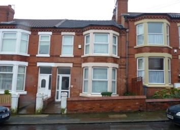 Thumbnail 4 bedroom terraced house to rent in St. Brides Road, Wallasey