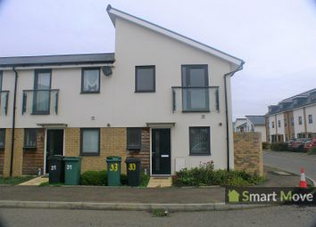 Thumbnail 2 bed end terrace house to rent in Hartley Avenue, Fengate, Peterborough, Cambridgeshire.