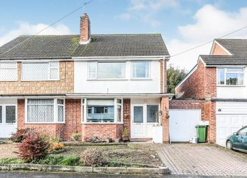 Thumbnail 4 bed semi-detached house for sale in Bramcote Drive, Solihull, West Midlands, Birmingham