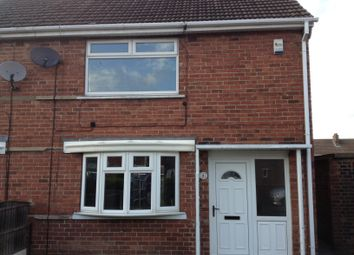 Thumbnail 2 bed semi-detached house to rent in Sherwood Road, New Rossington, Doncaster
