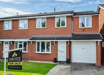 Thumbnail 3 bed semi-detached house for sale in Buckingham Close, Stretton, Burton-On-Trent