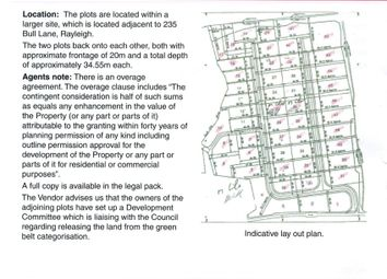 Thumbnail Land for sale in Bull Lane, Rayleigh