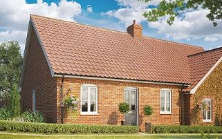 Thumbnail 2 bed terraced bungalow for sale in Butterfield Meadow, Hunstanston, Norfolk