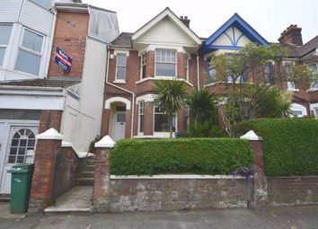 Thumbnail 3 bed terraced house to rent in Cheriton Road, Folkestone, Kent