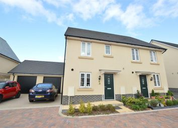 Thumbnail 3 bed semi-detached house to rent in Baron Way, Newton Abbot, Devon