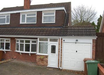 Thumbnail 3 bed semi-detached house to rent in Whitethorn Crescent, Streetly