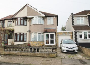 Thumbnail 3 bed semi-detached house for sale in Belvedere Avenue, Clayhall, Ilford