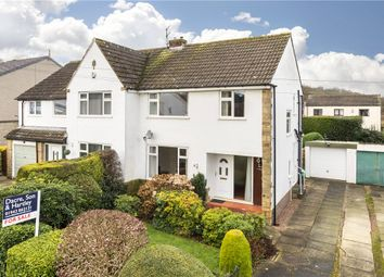 Thumbnail 3 bed semi-detached house for sale in Hall Drive, Burley In Wharfedale, Ilkley