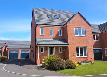 Thumbnail 4 bed detached house for sale in Maes Glyndwr, Hope