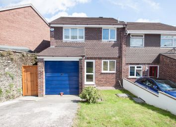 Thumbnail 3 bed semi-detached house for sale in Mary Dean Avenue, Tamerton Foliot, Plymouth