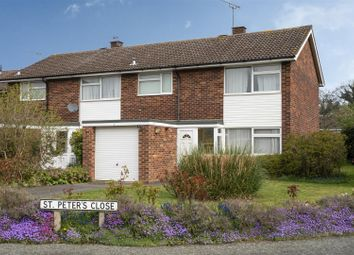 Thumbnail 3 bed end terrace house for sale in St. Peters Close, Woodbridge