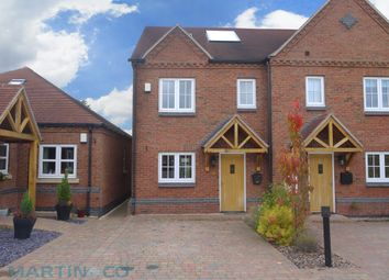 Thumbnail 3 bed town house for sale in Brunsleigh Croft, Hathern, Loughborough