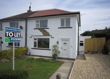 Thumbnail 3 bed semi-detached house to rent in Hill Crescent, Rawdon, Leeds