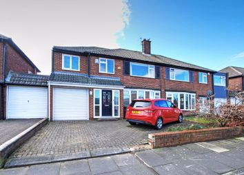 Thumbnail 4 bed semi-detached house for sale in Guyzance Avenue, Gosforth, Newcastle Upon Tyne