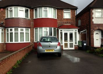 Thumbnail 3 bed semi-detached house to rent in Lyndon Road, Solihull