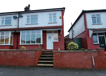 Thumbnail 3 bed semi-detached house for sale in Grosvenor Avenue, Whitefield, Manchester