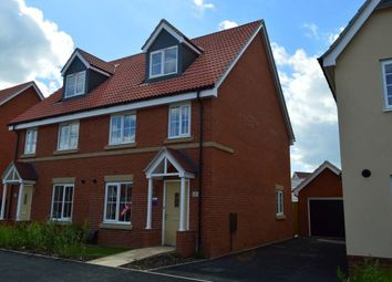 Thumbnail 3 bed semi-detached house to rent in Swallow Drive, Wymondham