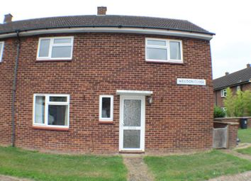 Thumbnail 2 bed semi-detached house to rent in Weedon Close, Henlow