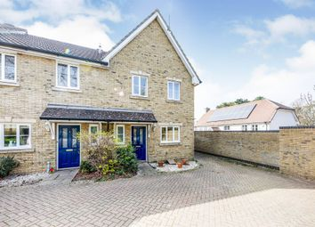 Thumbnail 3 bed end terrace house for sale in Chestnut Close, Chartham, Canterbury