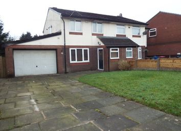 Thumbnail 3 bed property to rent in Abbeydale Gardens, Worsley, Manchester