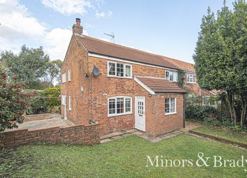 Thumbnail 4 bed semi-detached house for sale in The Street, Lound, Lowestoft
