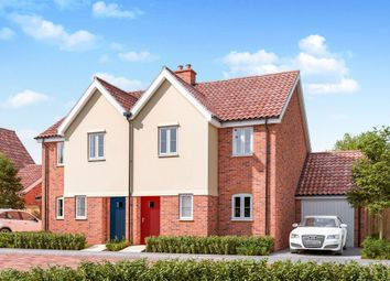 Thumbnail 3 bed semi-detached house for sale in Church Road, Otley, Ipswich