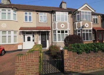Thumbnail 3 bed terraced house to rent in Belgrave Avenue, Romford, Essex