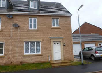 Thumbnail 4 bed semi-detached house to rent in Lapwing Close, Corby