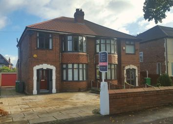 Thumbnail 3 bed semi-detached house for sale in Barlow Moor Road, Chorlton Cum Hardy, Manchester