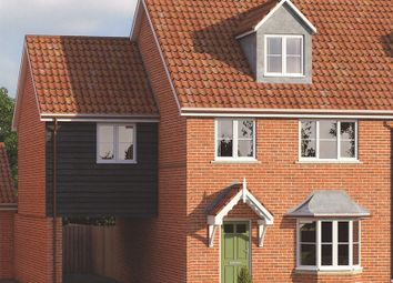 Thumbnail 4 bed town house for sale in Westgate Gardens, Wymondham
